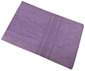 Lushomes 450 GSM Cotton Bath towel ( 1 piece , Purple )