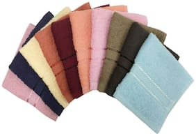 Lushomes Multi Terry Face Towels (Pack of 10)