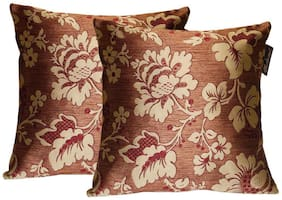 Lushomes Polyester Jacquard Cushion Covers Pack of 2