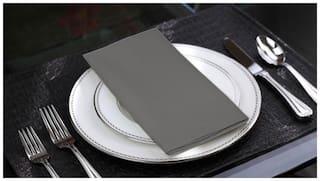 Lushomes Sedona Sage Cotton Plain 6 Table Napkins Set (Dinner Napkins)