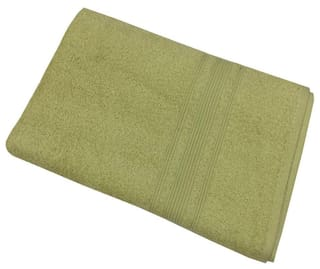Buy Lushomes Shadow Green Super Soft And Fluffy Bath Towel Size 24