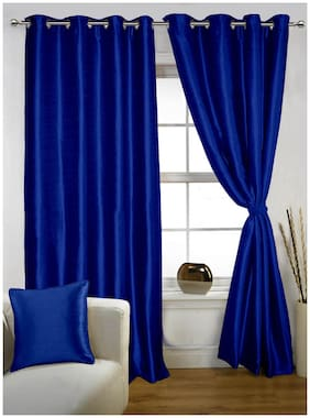 Lushomes Twinkle Star Curtain With Blackout Lining For Doors (7 ft)