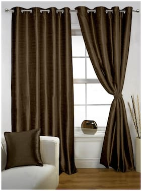 Lushomes Twinkle Star Curtain With Blackout Lining For Long Door (9 Feet)