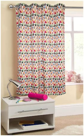 Lushomes Uber Premium Digital Kids Animals Window Curtains (Single Pc Size 137.16 cm (54 inch) x 152.4 cm (60 inch) 8 metal eyelets)