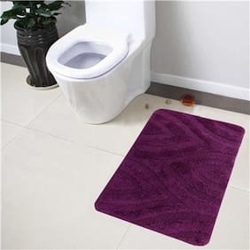 Lushomes Ultra Soft Cotton Deep Purple Regular Bath Mat