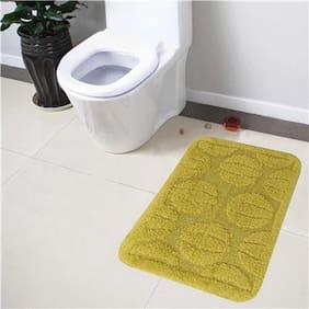 Lushomes Ultra Soft Cotton Fluorescent Green Medium Bath Mat