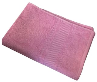 Buy Lushomes Ultra Absorbent Ladies Baby Pink Bath Towel Size 24 X