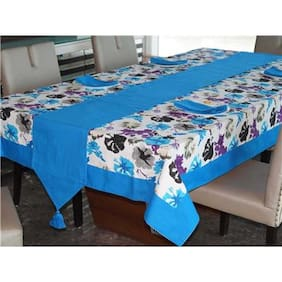 Lushomes Watercolor Printed 12 Seater Table Linen Set