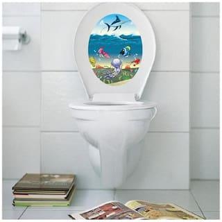 M1-15 sea creatures toilet Wall Sticker JAAMSO ROYALS