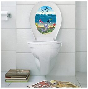 M1-15 sea creatures toilet Wall Sticker JAAMSO ROYALS