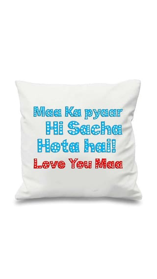 Maa Ka Pyaar White Cushion 1616Mothers Day Giftsgifts For Mothers