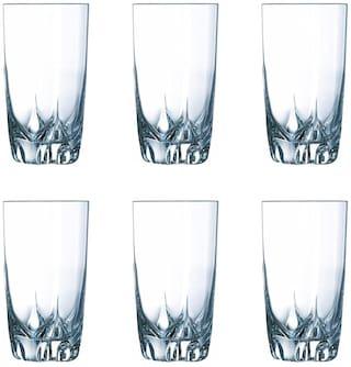 Maalgodam (Pack of 6) Sunny-Water-P6 Glass Set (265 ml;Glass)