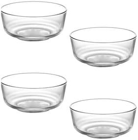 MaalgodamGlass Mixing Bowl;Serving Bowl;Pack of 4;Capacity 1200 ml each