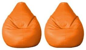 Madaar Homez Artificial Leather Teardrop Large Bean Bag Cover