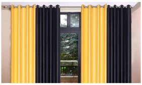 Madhav Product Plain Eyelet Long Door Curtain (Set Of 4)