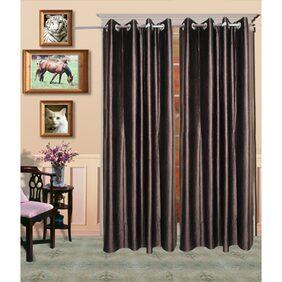 Madhav Products Plain Eyelet Door Curtain (1Pcs)