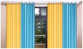 Madhav product Plain Eyelet Door Curtain (Set Of 4)