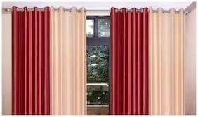 Madhav Product Plain Eyelet Long Door Curtain (Set Of 4)