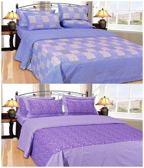 Madhav Product Combo Of Printed 2 Double Bedsheet With 4 Pillow Covers