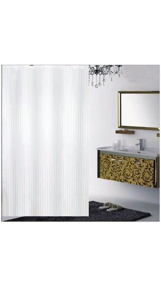 Madhav Product Plain Shower Curtain Pack Of 1 Pcs