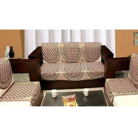 Madhav product designer polycotton 5 seater sofa cover set (pack of 10pcs)