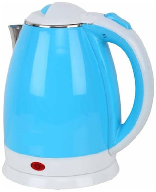 MadSan Hot Water Pot Portable Boiler Tea Coffee Warmer Heater Cordless Electric Kettle (2 L, Blue)