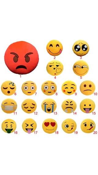 Buy Magideal New Tongue Out V Eyes Emoji Emoticon Cushion Pillow