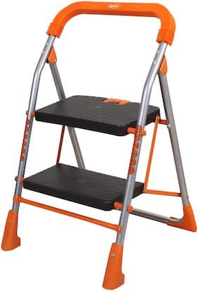 Magna Homewares Stainless steel 2 Steps Ladder ( Orange , Front Step )