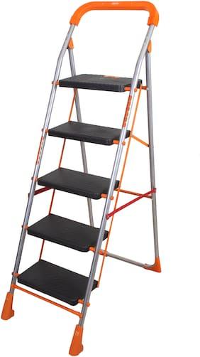 Magna Homewares Stainless steel 5 Steps Ladder ( Orange , Front Step )