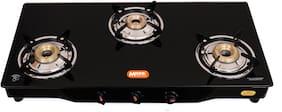 Magna Homewares Magna Homewares 3 Burner Regular Black Gas Stove ,