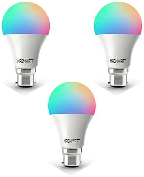 Magniwatt Energies 3 in 1 Colour Smart LED Bulb [ Pack of Three, Each of One, Combination ] (Blue, Pink, RED) & (Green, Blue, Cyan) & (Blue, Indigo, White)
