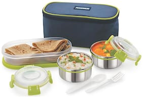 Magnus 3 Containers Stainless steel Lunch Box - Assorted