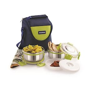 Magnus 2 Containers Stainless steel Lunch Box - Assorted