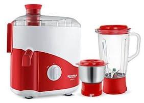 Maharaja Whiteline ODACIO 450 W Juicer Mixer Grinder ( Red , 2 Jars )