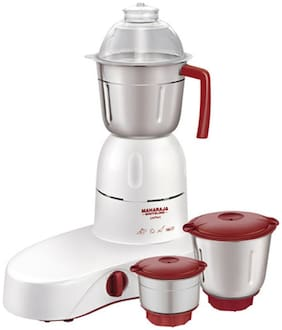 Maharaja Whiteline PERFECT-MX-100 500 W Mixer Grinder ( Red & White , 3 Jars )