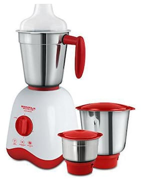 Maharaja Whiteline CONVENIO MX-162 500 W Mixer Grinder ( Red & White , 3 Jars )