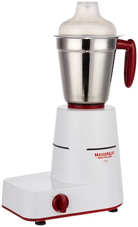 Maharaja Whiteline MX-100 500 W Mixer Grinder ( Red & White , 3 Jars )
