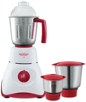 Maharaja Whiteline MX-130 550 W Mixer Grinder ( Red & White , 3 Jars )