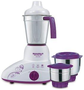Maharaja Whiteline STUNNER MX-168 500 W Mixer Grinder ( Purple & White , 3 Jars )
