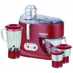 Maharaja Whiteline Ultimate JX-101 550W Juicer Mixer Grinder (Red & Silver/3 Jar)