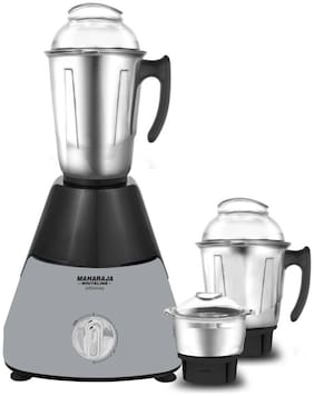 Maharaja Whiteline INFINIMAX HD 1000 W Mixer Grinder ( Grey & Black , 3 Jars )