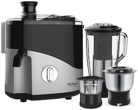 Maharaja Whiteline ODACIO PLUS 550 W Juicer Mixer Grinder ( Black & Silver , 3 Jars )