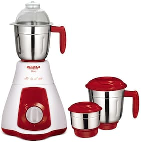 Maharaja Whiteline FLORA MX 133 550 W Mixer Grinder ( Red & White , 3 Jars )