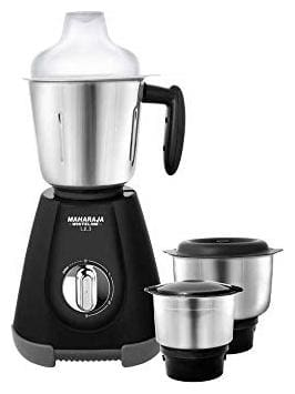 Maharaja Whiteline 1.2.3 550 W Mixer Grinder ( Black & Grey , 3 Jars )