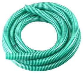 MAHI S PVC GARDEN WATER HEAVY SUCTION HOSE PIPE GREEN 1.25 inch BY 15 METERS LONG,GARDEN PIPE,CAR WASH PIPE,PVC AGRICULTURE PIPE,PVC WATER DISTRIBUTION PIPE,PVC PIPE,FLEXIBLE PIPE,GARDENING PIPE,RIGID