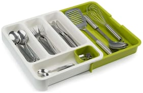 Maison & Cuisine Drawer Store Expandable Cutlery Tray - Green(278-19)