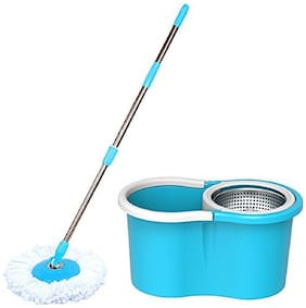 Maison & Cuisine 360° Spin Floor Cleaning Steel Spin Mop With 2 Microfibers