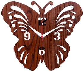 Maison & Cuisine Wood Analog Wall clock ( Set of 1 )
