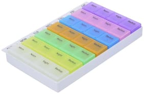 Maison & Cuisine 7 Day Pill Box with Tray, Medication Organizer Planner (434)