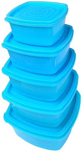 Maitri Microwave Safe BPA Free Lid Free Plastic Airtight Container Set for Freezer Storage/Storage Container/Utility Box;Grocery Container 250 ml;500 ml;750ml;1250ml;2000ml